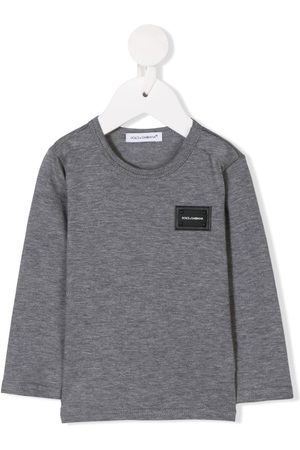 Dolce & Gabbana Logo plaque long-sleeved T-shirt