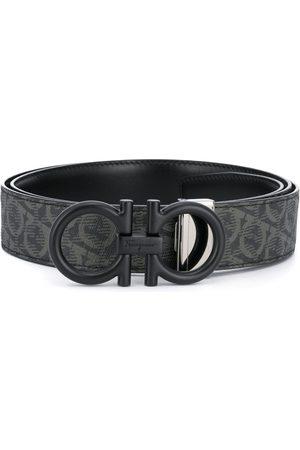 Salvatore Ferragamo Heren Riemen - Gancini-print buckle-fastening belt