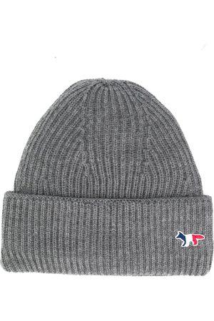 Maison Kitsuné Mutsen - Fox patch knitted hat