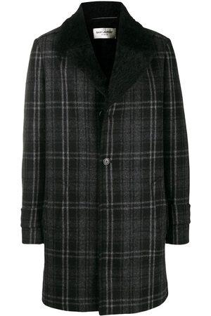 Saint Laurent Checked long blazer