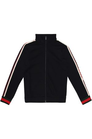 Gucci Logo-taped cotton track jacket