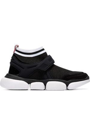 Moncler Velcro suede trim sock sneakers