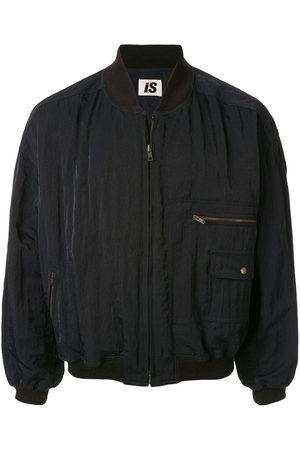 Issey Miyake 1980's Sport Line Care Label print bomber jacket