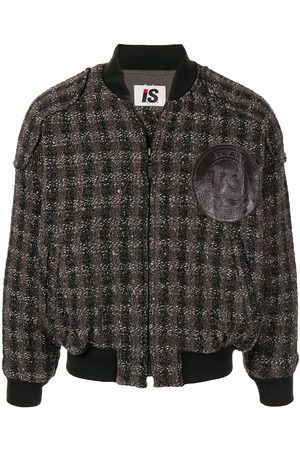 Issey Miyake 1980's woven checked bomber jacket