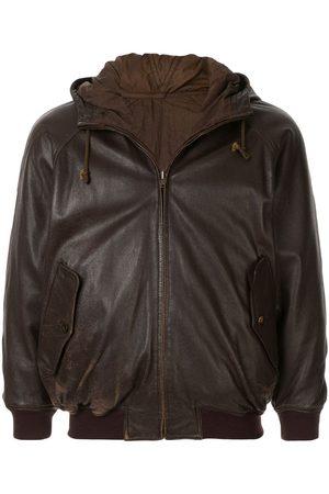 Issey Miyake 1980's Sport Line drawstring leather jacket