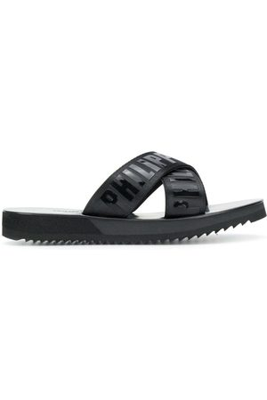 Philipp Plein TM criss-cross slides