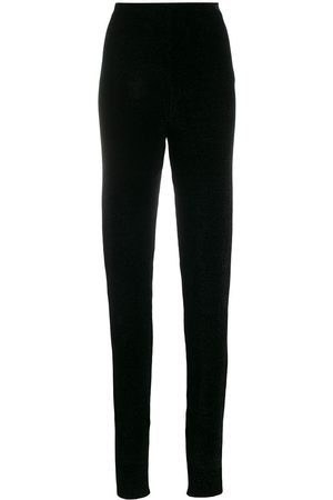Jil Sander Dames Leggings - Chenille knitted leggings