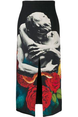 VALENTINO Dames Geprinte rokken - Galaxy kiss print maxi skirt