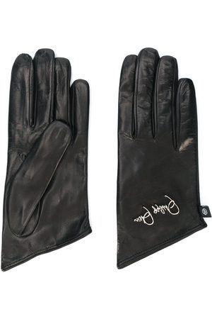 Philipp Plein Embroidered logo gloves