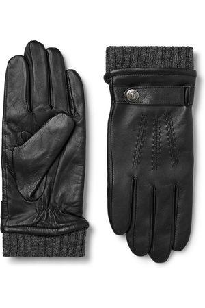 Dents Heren Handschoenen - Henley Leather And Wool-blend Tech Gloves