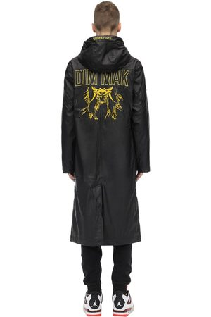 DIM MAK COLLECTION Embroidered Rubberized Raincoat
