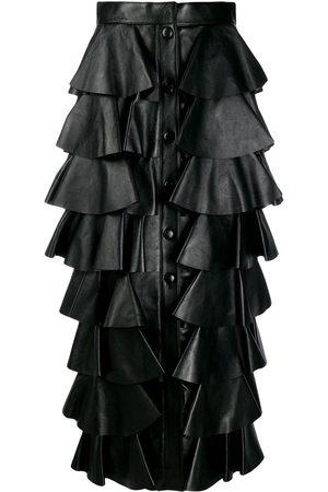 Saint Laurent Long tiered ruffle skirt