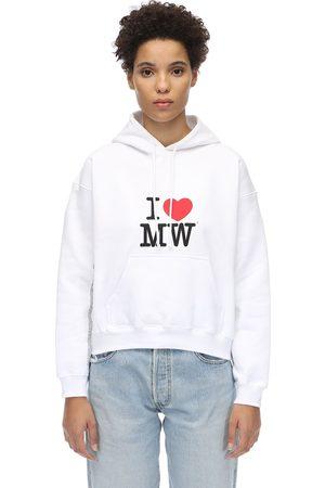 Vetements Cropped Cotton Sweatshirt Hoodie