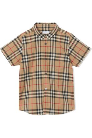 Burberry Check print shortsleeved shirt