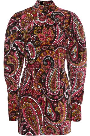 ROTATE Paisley cotton minidress