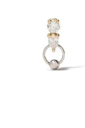 DELFINA DELETTREZ 18kt white and yellow gold Two in One diamond earring