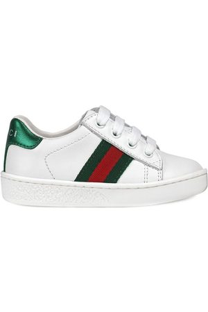 Gucci Leather low-top with Web