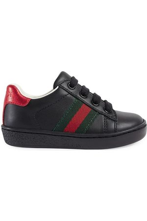 Gucci Jongens Schoenen - Leather low-top sneakers with Web