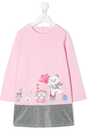 Simonetta Glitter hem sweatshirt dress