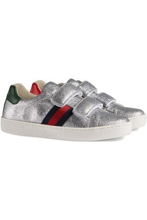 Gucci Children's glitter sneaker with Web