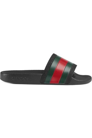 Gucci Children's rubber slides with Web