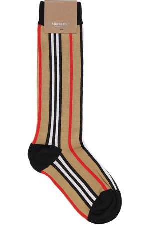 Burberry Meisjes Sokken & kousen - Icon Striped Cotton Blend Knit Socks