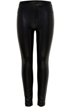 Only Leatherlook Legging Dames Zwart