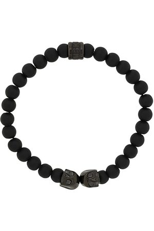 NORTHSKULL Medium twin skull charm bracelet