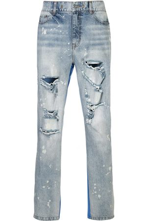 MOSTLY HEARD RARELY SEEN Half and Half panelled jeans