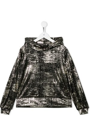 Le pandorine Metallic sheen hoodie