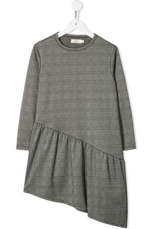 Le pandorine Asymmetric check print dress