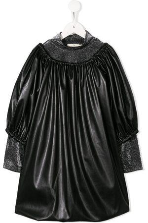 Le pandorine Oversized faux-leather dress