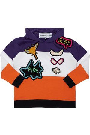 MICHAELA BUERGER Meisjes Sweaters - Cotton Sweatshirt Hoodie W/ Knit Patch