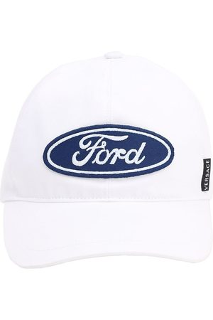 VERSACE Embroidered Ford Logo Baseball Hat