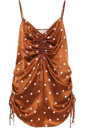 Lee Mathews Talulah polka-dot silk-satin camisole