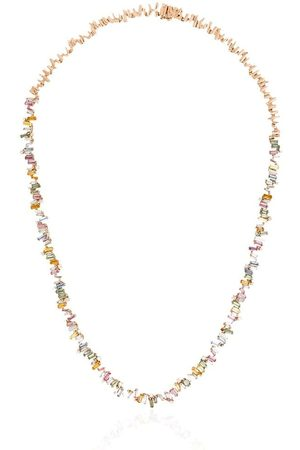 Suzanne Kalan 18kt Fireworks sapphire and diamond necklace