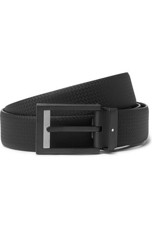 Mont Blanc 3cm Textured-leather Belt