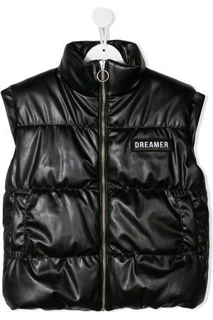 Le pandorine Puffer leather look gilet
