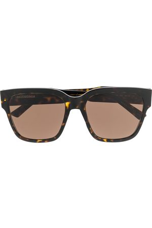 Balenciaga Tortoiseshell-effect oversized square sunglasses