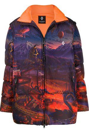 MARCELO BURLON Fantasy down jacket
