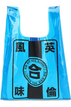 Neil Barrett Printed Pvc Tote Bag