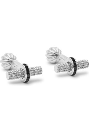 Tom Ford Heren Manchetknopen - 18-karat White Gold Diamond Cufflinks