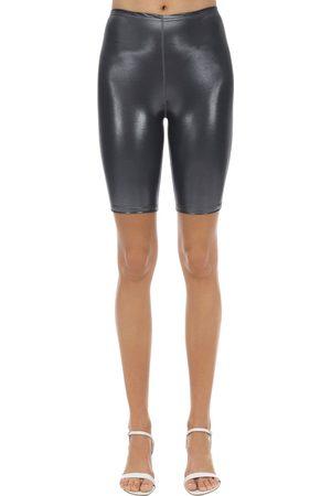 VELVET SOCK'S BY SIMONE WILD Dames Shorts - Metallic Techno Cycle Shorts