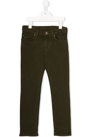 Emporio Armani Jongens Straight - Mid-rise straight leg denim jeans