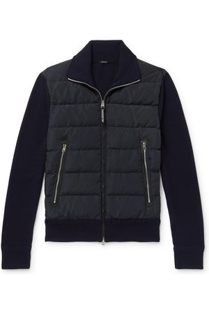 Tom Ford Heren Wollen jassen - Slim-fit Panelled Ribbed Wool And Quilted Shell Down Jacket