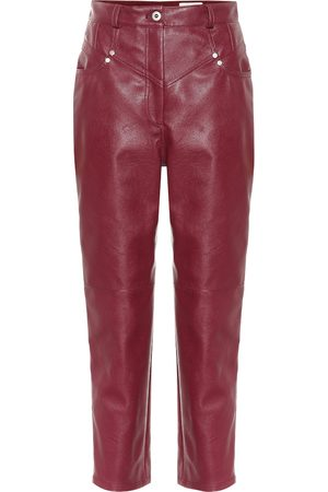 Stella McCartney Exclusive to Mytheresa – High-rise faux leather straight pants