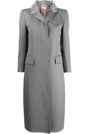 Thom Browne Fur Collar Elongated Chesterfield