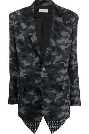 FAITH CONNEXION Camouflage print single-breasted blazer