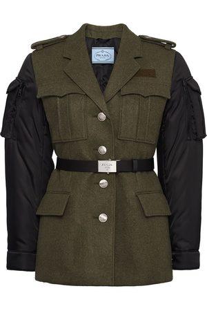 Prada Authentic Loden and nylon gabardine jacket