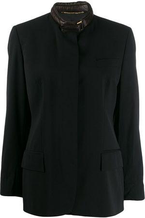 Gucci 1990s leather choker jacket